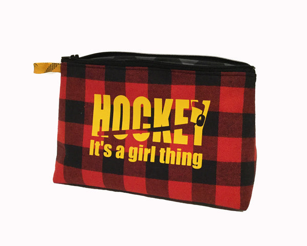 Hockey girl's pencil case for back to school