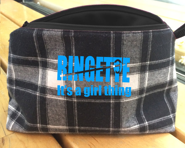 Ringette bags for make-up, toiletries and art supplies