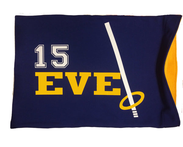 Personalized ringette player pillowcase