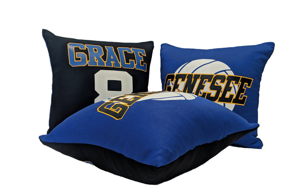 Personalized volleyball team pillows