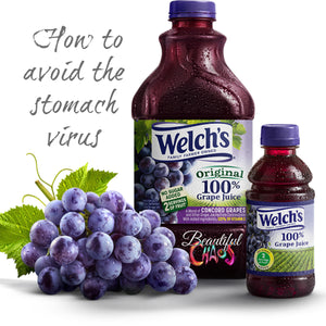 Science behind grape juice and the stomach virus