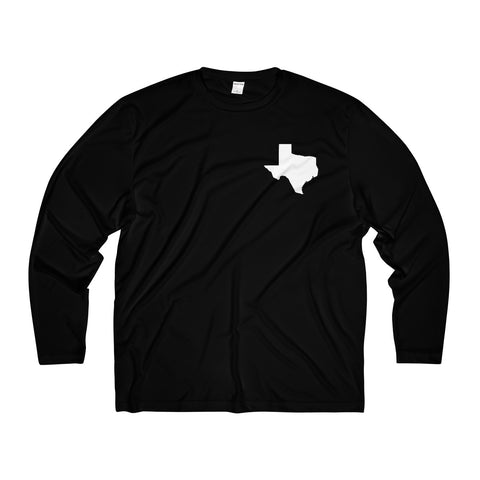 Texas Men's Long Sleeve Moisture Absorbing Tee