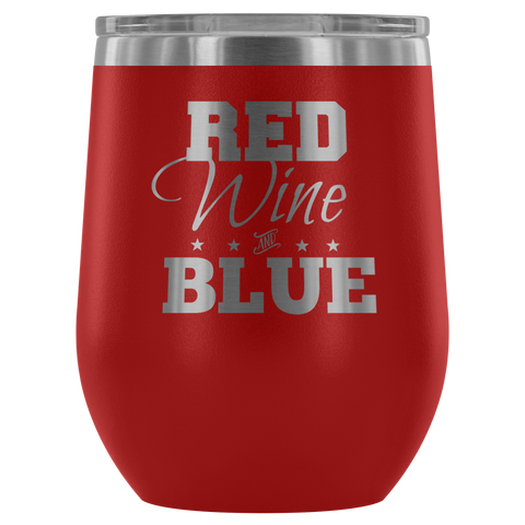 Red Wine and Blue Wine Glass