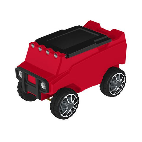 Remote Rover RC Cooler with Bluetooth Speakers Red and Black