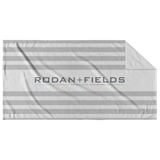 Rodan and Fields Grey Stripes Beach Towel