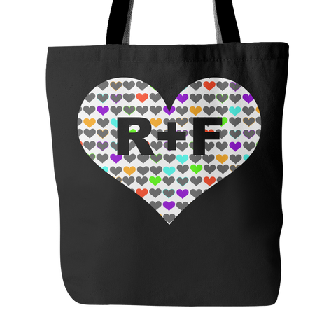 RF black tote bag