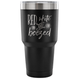 Red White and Boozed Tumbler