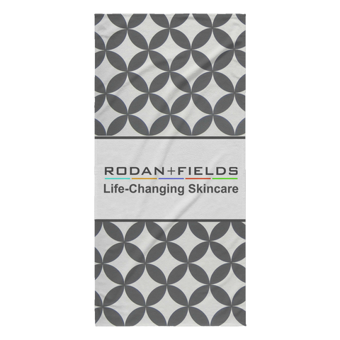 RODAN AND FIELDS LIFE-CHANGING SKINCARE GREY BEACH TOWEL