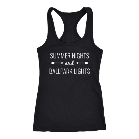 Summer Nights And Ballpark Lights Tank Top
