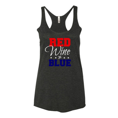 Red WINE and Blue Women's tank top - Beautiful Chaos - 1