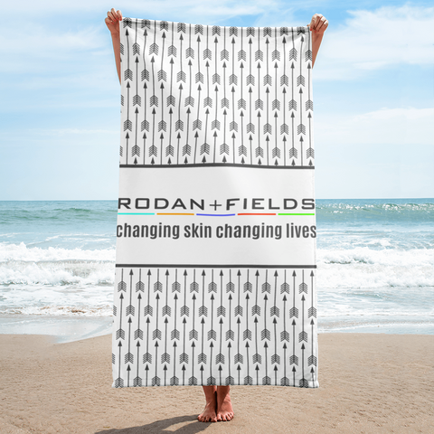 Rodan and Fields Arrow Beach Towel