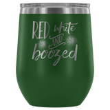 Red White and Boozed Wine Tumbler