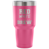 Red White and Brew Tumbler Cup
