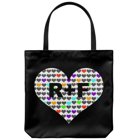 Black Rodan and Fields Hearts Tote Bag