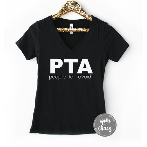 PTA People To Avoid V-Neck Shirt