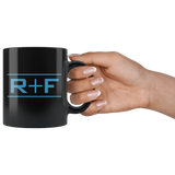 Rodan and Fields Black Coffee Mug