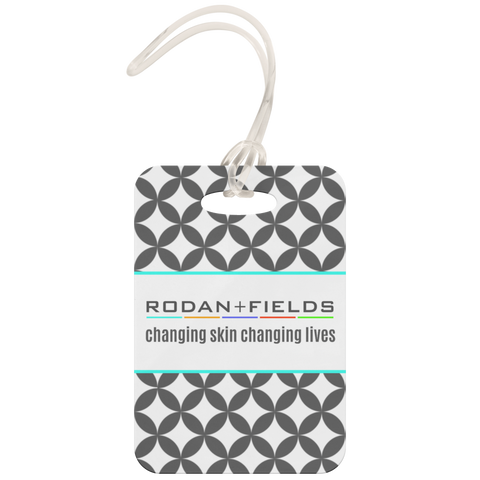 Rodan and Fields Luggage Tag Grey