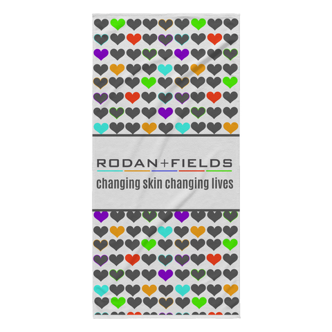 RF Changing Skin Changing Lives Beach Towel