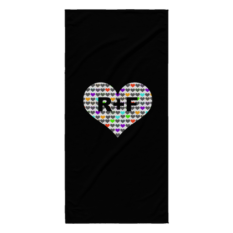 RF Heart Beach Towel