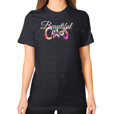 Unisex T-Shirt (on woman) - Beautiful Chaos - 1