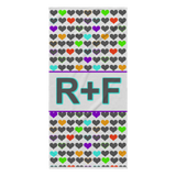 RF Hearts Beach Towel