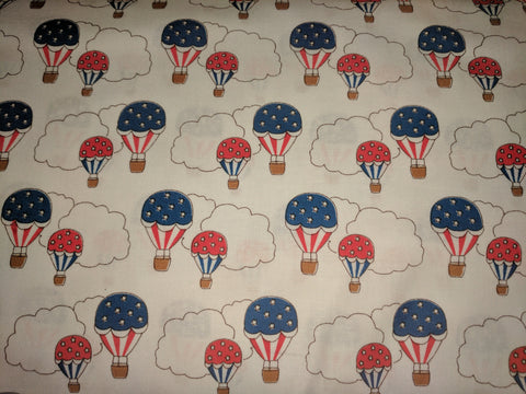 Americana Storybook Hot Air Balloons White