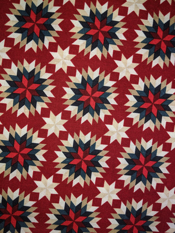 American Heritage Quilt Star Red