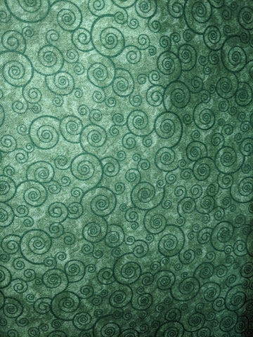 Green Swirls Dark