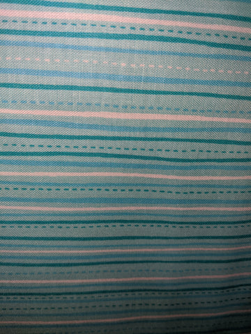 Aqua Sweet Caroline Stripes