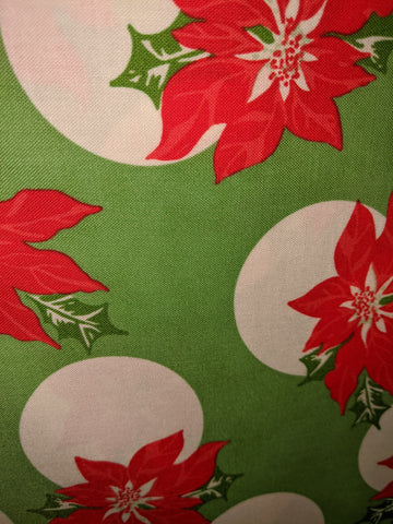 Christmas Swell Christmas Poinsettias Green