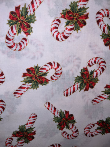 Christmas Candy Canes Metallic