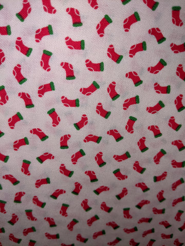 Christmas Candy Cane Lane Stockings White