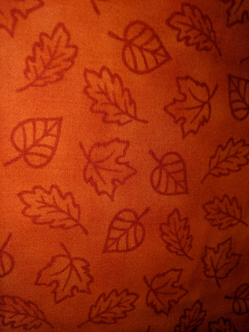 Autumn Thankful Leaves Orange