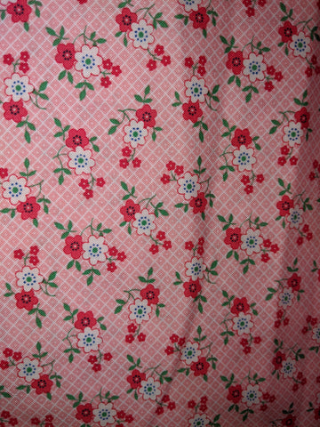 1930's Playtime Pink Flowers