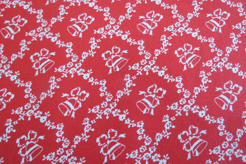 Christmas  Storybook Christmas Bells/Lattice Red
