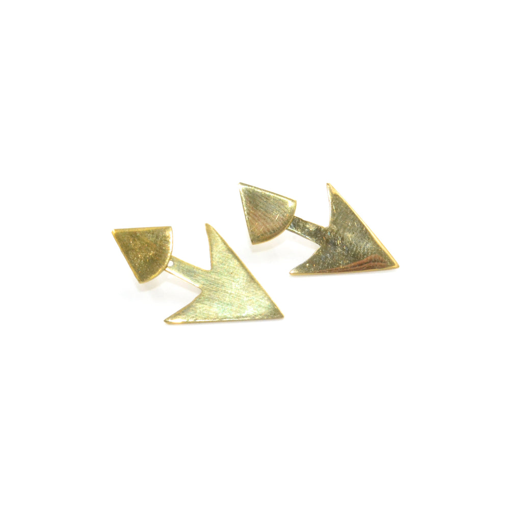 Arrow Jacket Stud Earrings