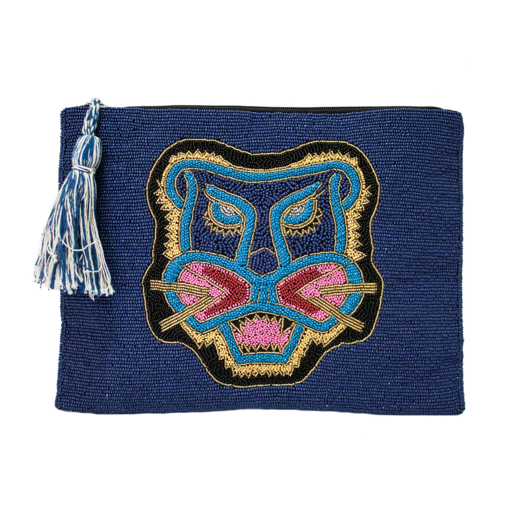 Bali Tiger Beaded Clutch
