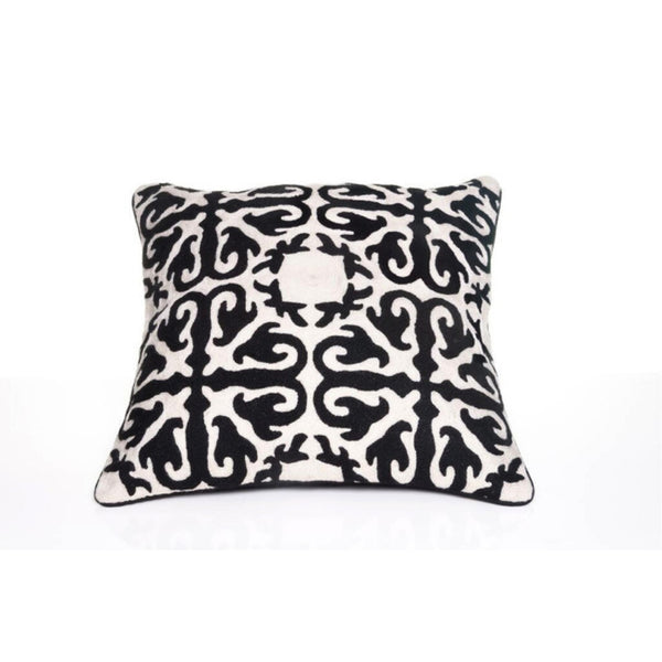 Black Motif Throw Pillow Cover