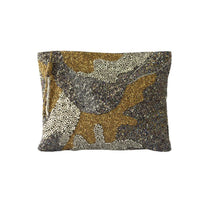 Camouflage Beaded Clutch
