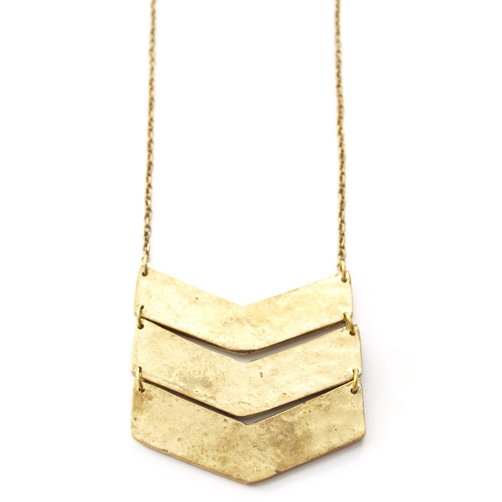 Chevron Gold Necklace
