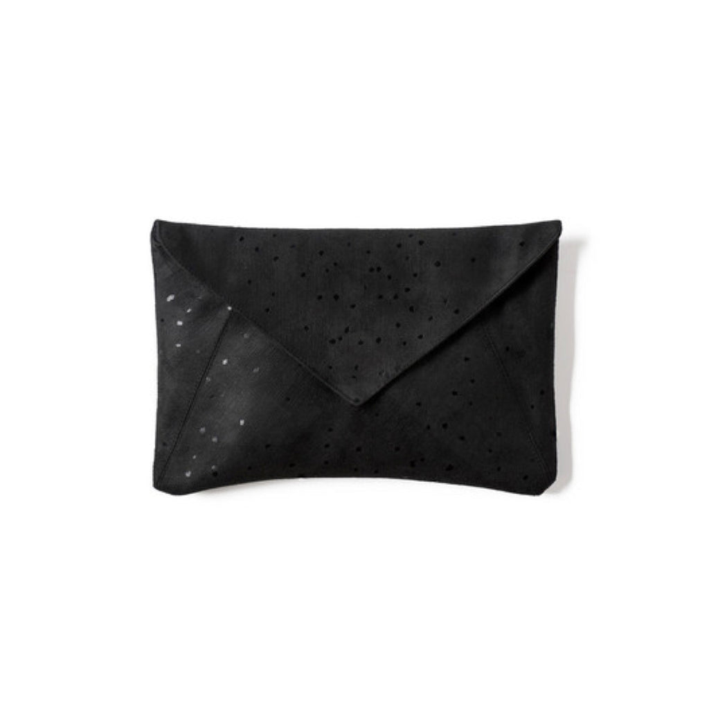Confetti Envelope Clutch - Black on Black