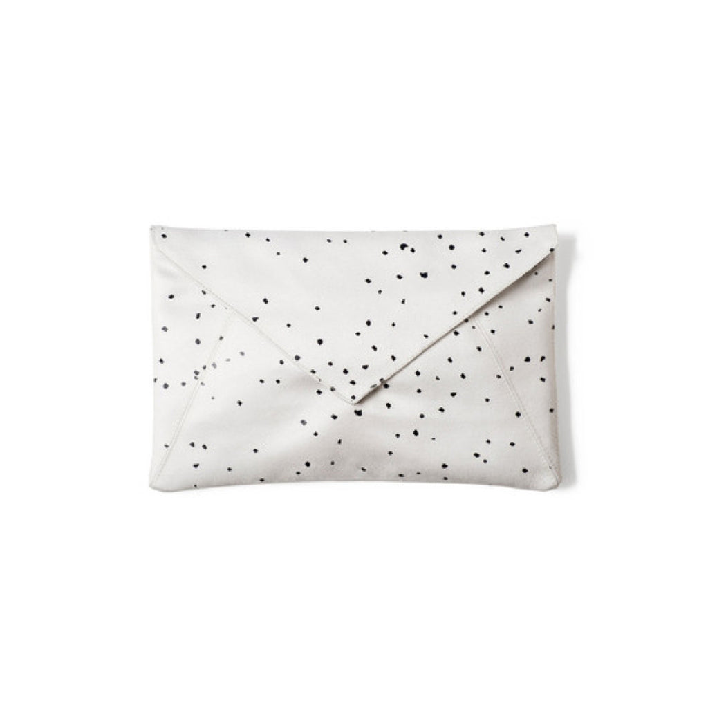 Confetti Envelope Clutch - Black on White