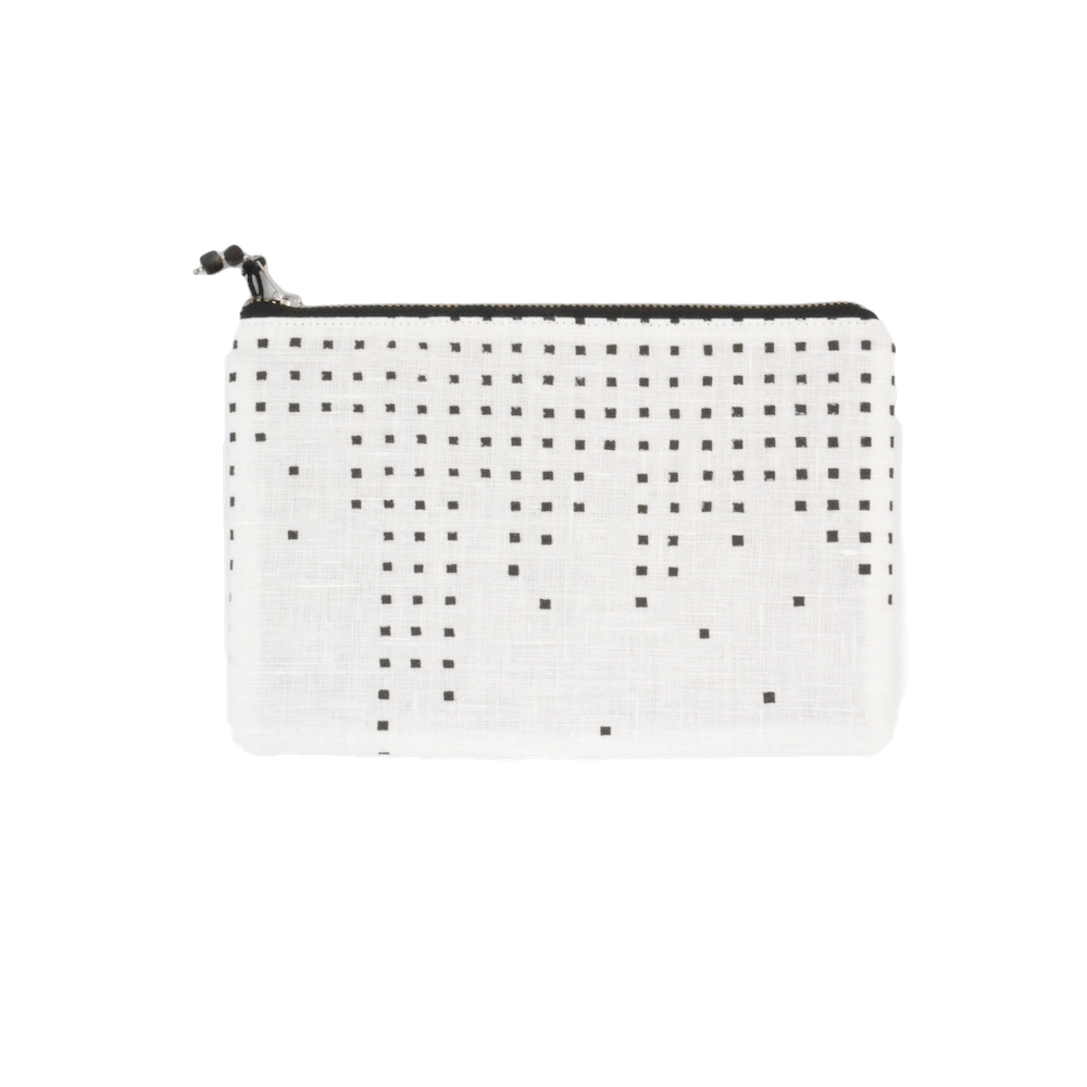 Dropping Square Cotton Wallet Clutch
