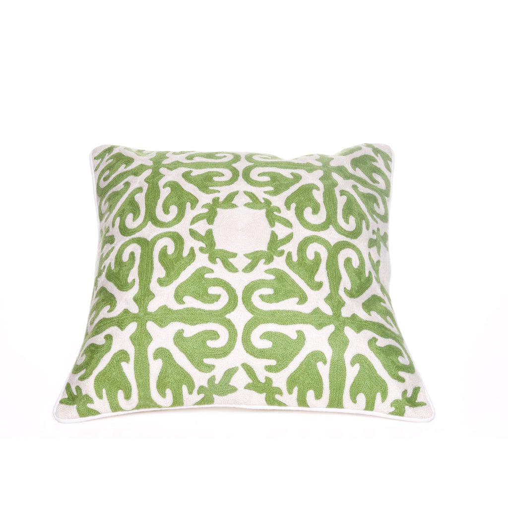 Green Motif Throw Pillow Cover