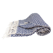 Diamond Weave Indigo Throw