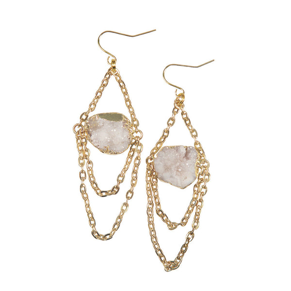 Jacinda Gold Chandelier Earrings