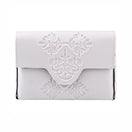 Mini Embossed White Vegan Cross Body