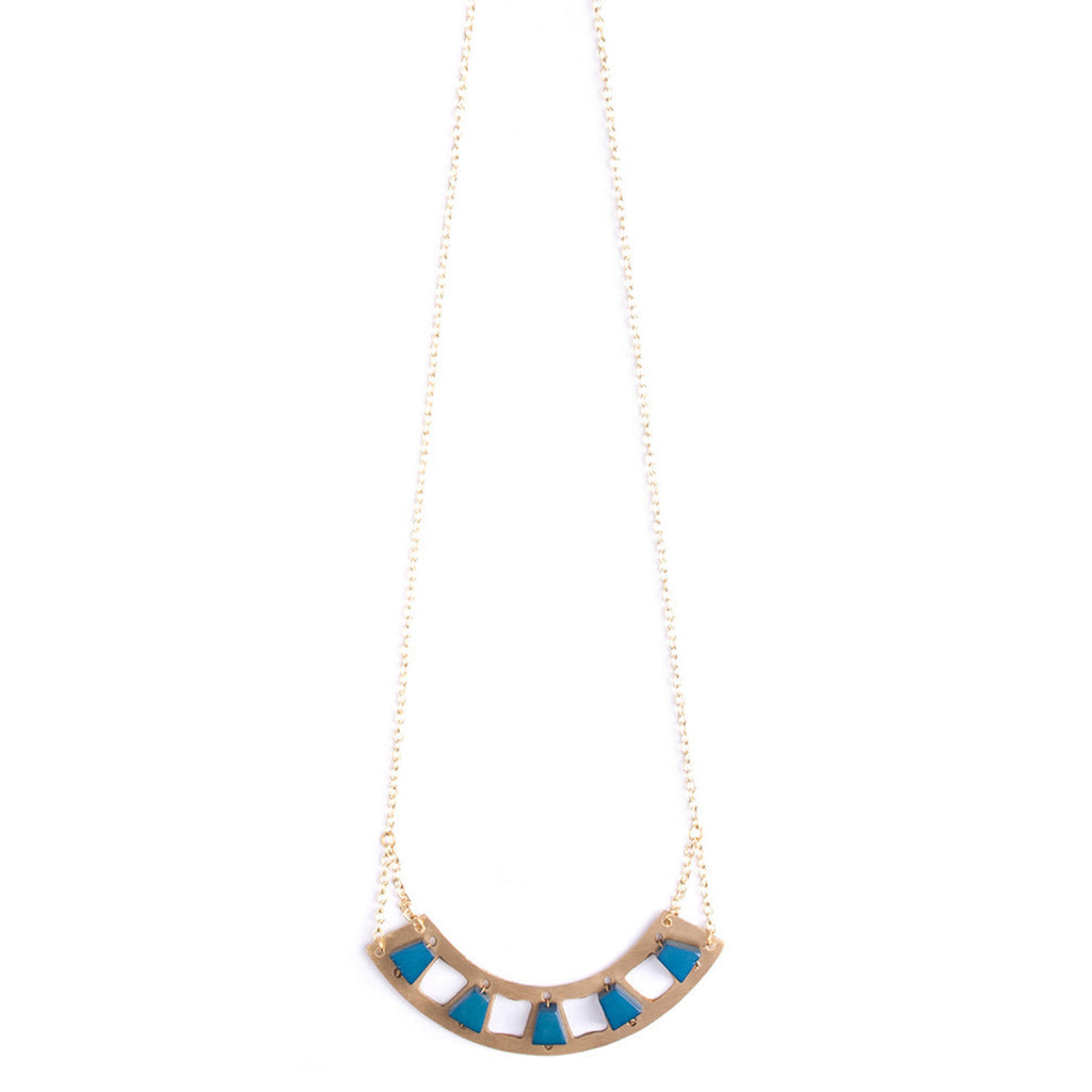 Mythology Blue Stone Necklace