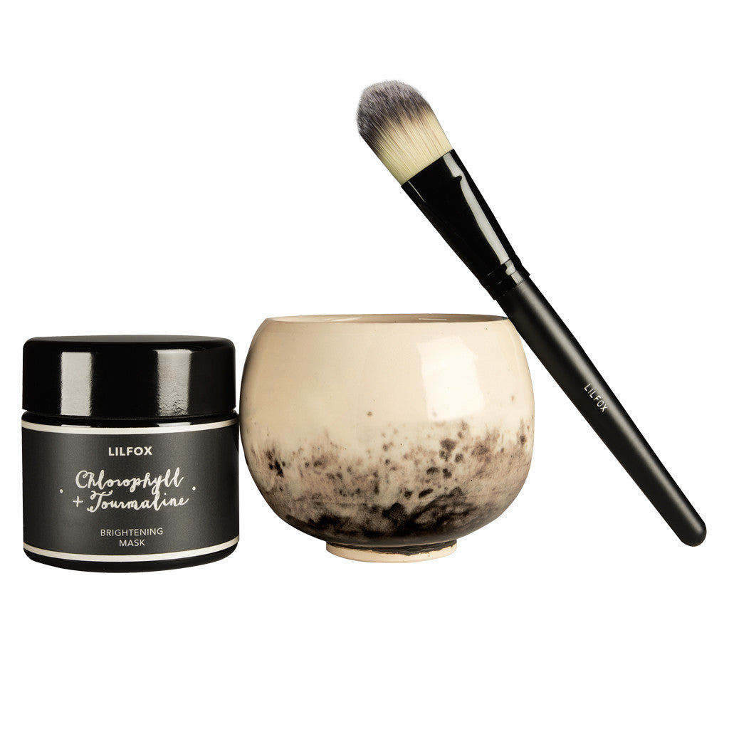 Face Mask Application Brush + Bowl Set