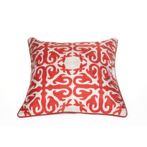 Red Motif Throw Pillow Cover